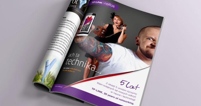 Reklama okolicznościowa do magazynu Świat Wiedzy – TP-Link