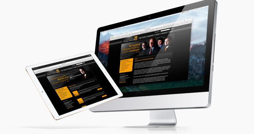 Kancelaria Dariusza Michalskiego – strona web